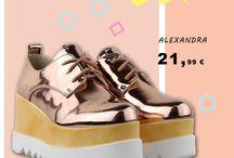 Alexandra 21,99€ || Flatform Δετά Παπούτσια Μεταλλιζέ Ροζ