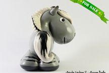 Polymer clay horses - Chevaux en pâte polymère / Mes petites créations, à vendre ou vendues, en pâte polymère !