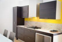 Cucina Cube-L / Cube-L, Cucina in legno multistrati di rovere moro prodotta da Furleo Cucine