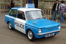 old police car's