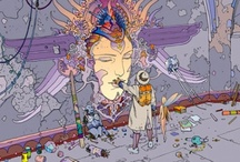 In memory of Jean Giraud (Moebius) / Artwork from the late, great Jean Giraud (Moebius) the brilliant French comic book artist and illustrator, who worked on a number of films including Fifth Element.