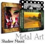 """Metal Art - your photos printed on metal / Metal Art - NEW & UNIQUE """"WOW!"""" is what everyone says when they see this new amazing printing technology. Your photo on metal......Metal art is the most popular new way to display your fabulous photos. Select from a variety of sizes and see how much fun it is to print your photos in this new artistic style. 100+ templates to choose from Come in and see the huge range of samples we have produced."""