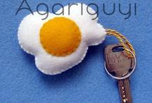 """Artículos de Fieltro / Complementos y artículos de fieltro del blog """"Agariguyi"""""""