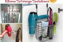 Bathroom Storage & Organization / A round up of the best bathroom storage and organization ideas on the web, for both small and large bathrooms, and everything in between.