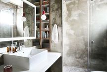 Industrial, vintage and minimalist bathrooms