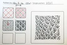 Carolien's Tangles To Try / Carolien's 'shortlist' of Zentangle patterns to try