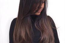 pelo largo corte y color