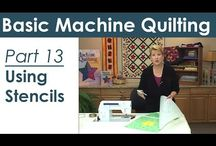 Domestic Machine Quilting Lessons with Video