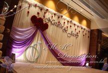 Engagement hall decorations