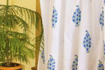 Blue and White Curtains / Blue and White Curtains - Curtains for Living Room - Decorative Curtains