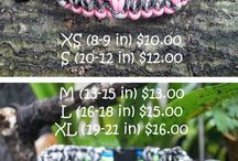 Dog collars & leashes made of paracord
