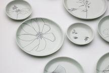 talerze...porcelana kreatywnie