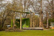 Donaugartenschau - Landesgartenschau Bayern 2014 in Deggendorf / 4 Wochen vor der offiziellen Eröffnung der Donaugartenschau fand eine Pressekonferenz mit Begehung statt. Die ersten Fotos vom Nationalpark Pavillion - Tor zur Wildnis.