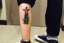 Tattoo messi and carttons