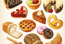 แบบ(เพ้นท์วาด) อาหาร/ขนม/ผลไม้/เครื่องดื่ม/เครื่องครัว