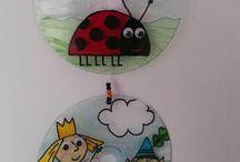 mis cdvitrales / vitrales personalizados con cd reciclados