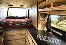 camper, van, traveling