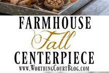 Fall Vignettes / Beautiful and inspireing Fall Vignettes, centerpieces and more!
