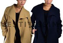 Giacca giacchetto donna spolverino cardigan trench coprispalle cintura lana MG2