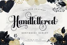 40 Fonts Bundle - March 2015 / Our very first super bundle of 40+ premium fonts created by some of the best graphic designers and illustrators on the planet. Available to buy at http://www.thehungryjpeg.com/40-fonts-super-bundle