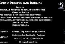 DIREITO DAS IGREJAS 5ª TURMA / Fotos sobre a 5ª Trma de Direito das Igrejas.