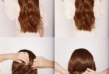 hair arrange / arrange