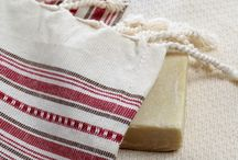 Turkish Hand and Hair Towel / Organic hand and hair towels made of pestemal.