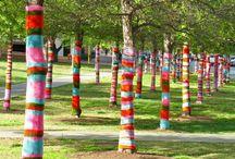 Yarn Bombing  / Yarn Bombing Street Art