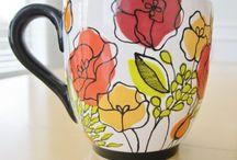 malovana keramika a sklo