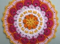 Mandala Wheels 5 / Crochet Mandalas created for Yarndale 2014