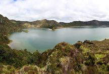 Sao Miguel island / The largest island in the Azores, Sao Miguel is famous for its spectacular crater lakes, boiling pools, botanical gardens, geothermal waterfalls, sandy beaches and quiet fishing villages.