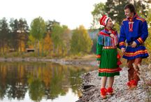 Saami Colours / I've always been inspired by the traditions of Saami folklore fashion, especially by the beautiful colours present within their costumes.