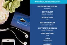 Disney Cruise Playlist / Looking for some great tunes to help you get in the mood for your upcoming voyage?   For each sailing, I like to create a special playlist of songs that will help my family get in the mood as we drive to the port. After the trip, my husband also incorporates these songs in our personal home videos.  It's been very rewarding because now, when the kids hear these songs on the radio, they will say they remind them of our cruise.  Here is a list of songs that I have used. Enjoy!