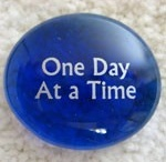 One Day at a Time / Start wt: (319) 09/05/11   Current wt: (241) 06/03/13  Stone depicts start date of next 10lbs.