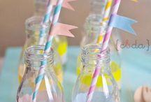 botellitas / botellitas para mesas dulces y fiestas