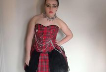 Punk project / Self directed study of punk fashion with a final piece designed and made by me.