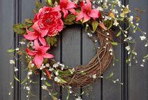 Wreaths and Door Deco