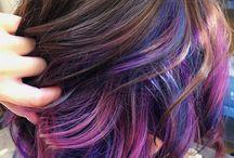 Färg i längre hår