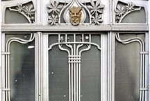Art nouveau and old doors design