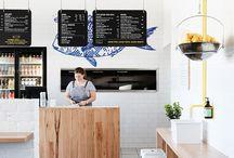 Restaurant Ideas / Ispirazione per interni per locale.