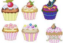 Perler cupcakes