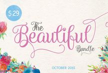 The Beautiful October Bundle / Get 33 incredible fonts (plus two bonus fonts) and 19 massive graphics packs, that include over 1000 individual graphics. This pack is discounted at over 96%  http://www.thehungryjpeg.com/the-beautiful-october-bundle