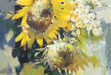 Sunflowers in paintings