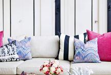Pink Navy pillows