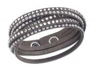 Swarovski - Bracelets Slake / Découvrez les Bracelet SWAROVSKI Slake double tour en tissu Alcantara® et choisissez votre couleur préférées !