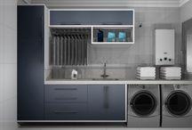 Lavanderia / Projetos de móveis para lavanderia