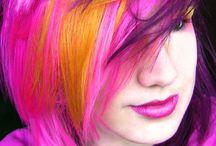 Hår med div farger