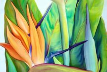 Cuadro de flores pintado