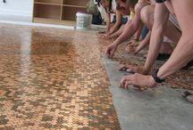 mønt gulv