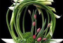 Kwiaty ze szkłem ,stroiki